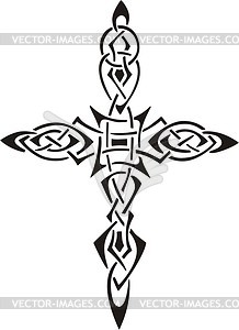 Kreuz Tattoo - Stock Vektor-Bild