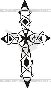 Kreuz Tattoo - Vektor Clip Art