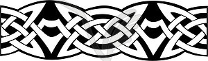 Keltischer Knotenmuster - schwarzweiße Vektorgrafik