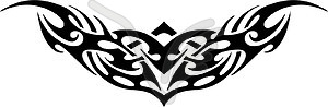 Symmetrisches Tattoo - Royalty-Free Vektor-Clipart