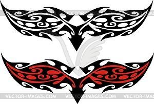 Symmetrisches Tattoo - Vektor-Illustration
