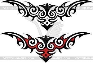 Symmetrisches Tattoo - vektorisierte Abbildung
