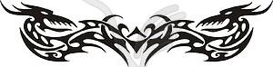 Symmetrisches Tattoo - Vektorgrafik-Design