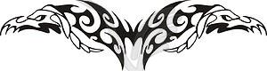 Symmetrisches Tattoo - Vektorabbildung