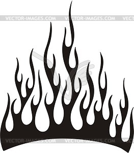 Tribal flame - vector clip art