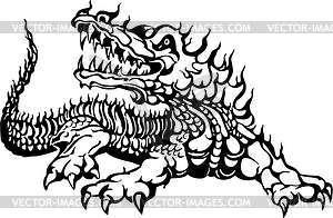 Krokodil Flamme - Vektor-Clipart / Vektor-Bild