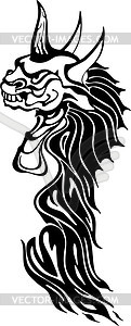 Monster Flammentattoo - Clipart-Bild