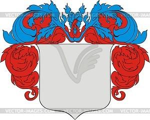 Wappenschild mit Kranz - Vektor Clip Art