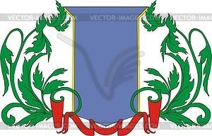 Wappenschild mit Kranz - Vector-Illustration