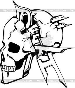 Schädel Tattoo - Vektor-Clipart / Vektorgrafik