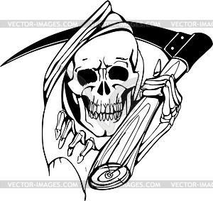 Schädel Tod Tattoo - Vektorgrafik