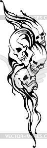 Schädel Tattoo - Vector-Abbildung