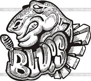 Blues (Graffiti) - Vektorgrafik