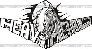 Heavy metal (graffiti) - vector clipart