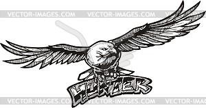 Adler Jäger (Graffiti) - Vektorgrafik