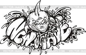 New Wave (Graffiti) - Vektorgrafik