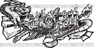 Rock & Roll (Graffiti) - Vektorgrafik
