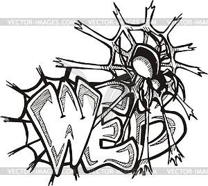 Web (Graffiti) - Vektorgrafik