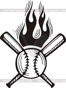 Baseball Flamme - vektorisierte Abbildung