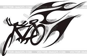 Fahrrad Flamme - vektorisiertes Design