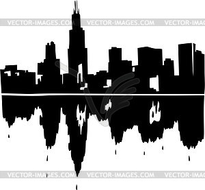 Skyline von Chicago - Vektor-Illustration