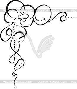 Ornamentale Ecke - Clipart