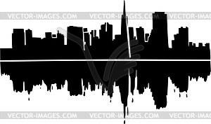Skyline von San Francisco - Royalty-Free Clipart