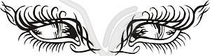 Augen Tattoo - vektorisiertes Clip-Art