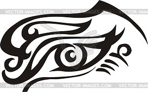 Auge Tattoo - vektorisiertes Design