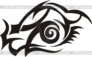Auge Tattoo - Clipart-Bild