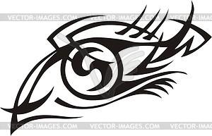Auge Tattoo - Vector-Clipart / Vektorgrafik