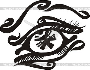 Auge Tattoo - Vektor-Illustration