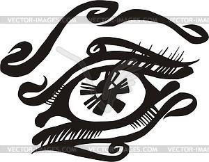 Auge Tattoo - Vektor-Illustration