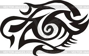 Auge Tattoo - Vector-Illustration