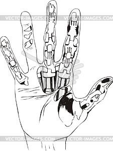 Hand des Cyborg - Vector-Bild