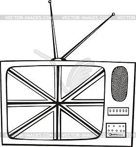 Fernseher - Stock-Clipart