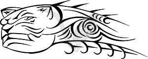 Hund Tattoo - Clipart