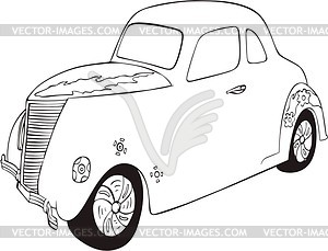 Vintages Hot Rod - Vector-Bild