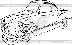 Vintages Hot Rod - Vector-Clipart EPS