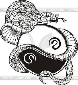 Schlange Tattoo (Ying-Yang) - Vektorgrafik