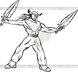 Wikinger - Vektor-Illustration