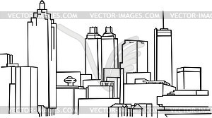 Skyline von Atlanta - Vektor-Design
