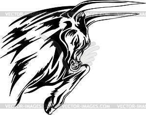 Stier Flammentattoo - Royalty-Free Vektor-Clipart