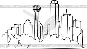 Skyline von Dallas - Vector-Design