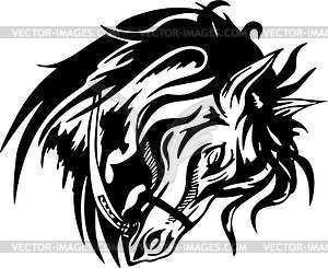 Pferd Tattoo - Stock Vektor-Bild