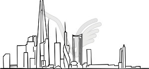 Skyline von Moscow City-Projekt - Vector-Illustration