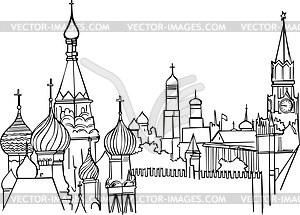Sehenswürdigkeiten in Moskauer Kreml - Vektorgrafik