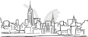 Skyline von New York - Vektor-Clipart EPS