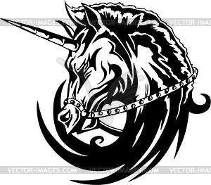 Einhorn Tattoo - Vector-Bild