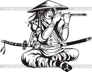 Japanischer Krieger - Vektorgrafik